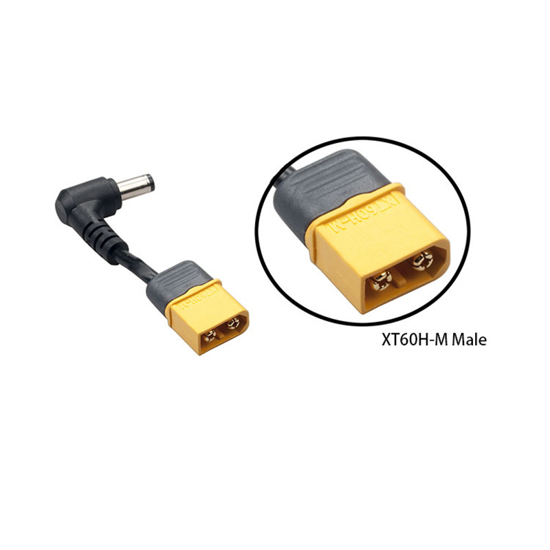 XT60 Male Plug DC 5.5mm//2.5mm Male Adapter for FPV Lipo Battery /& Drone Goggles
