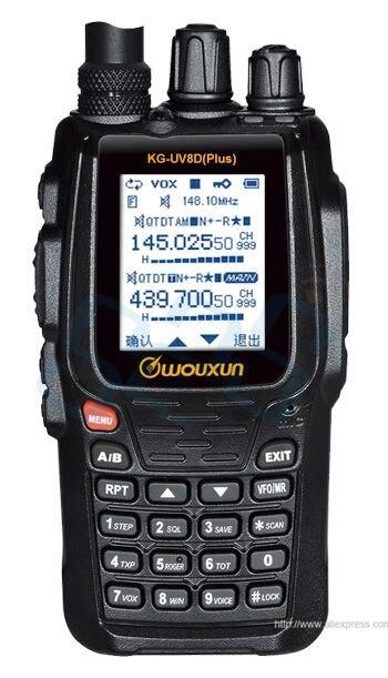imágenes para Walkie Talkie Wouxun KG-UV8D Plus de Doble Banda VHF: 136-174 MHz y UHF 400-480 MHz Dual pantalla Duplex (KG-UV8D Versión de Actualización)