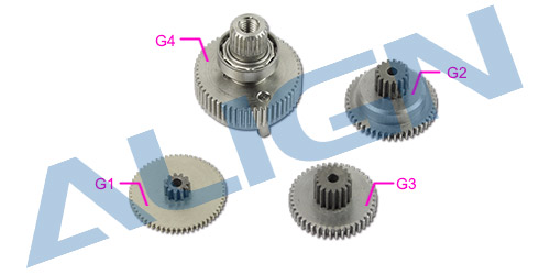 align trex DS820 Servo Gear Set HSP82001 Trex Spare Parts Free Shipping with Tracking align trex 550e three tail blade set h55t005xxw trex 550 spare parts free shipping with tracking