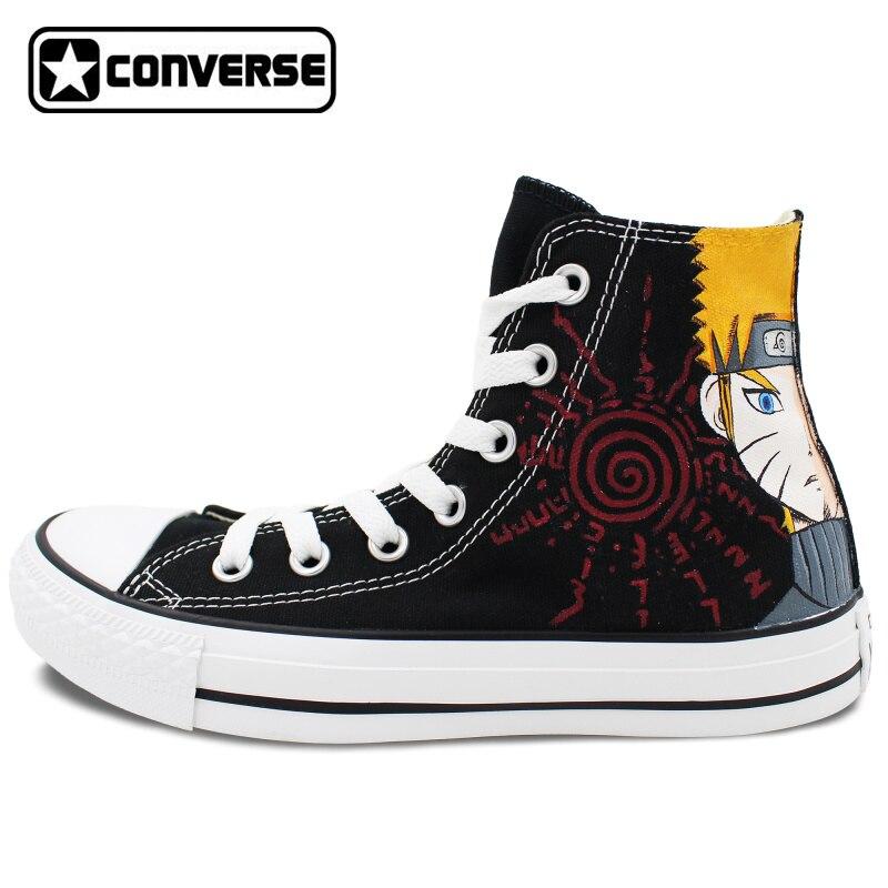 High Top Anime Converse All Star Men Women Shoes Naruto