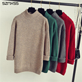 2016 Autumn Winter Sweater Female Half Turtleneck Sweater Pullovers Femme Cashmere Knitted Christmas Sweater Ponchos Pull Femme