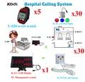 Alarma de Control remoto inalámbrico sistemas y seguridad de equipos hospitalarios pantalla 5 reloj localizador 30 tirón botón de llamada 30 corredor luz