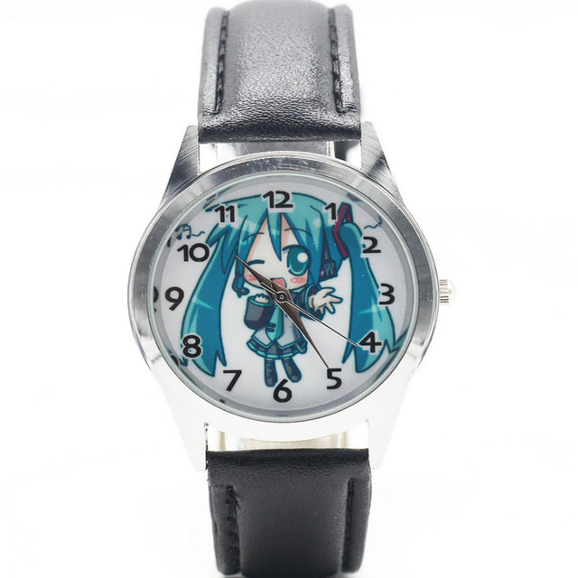 New Style 1PC Hatsune Miku Children Watches For Boys And Girls Cartoon Charater