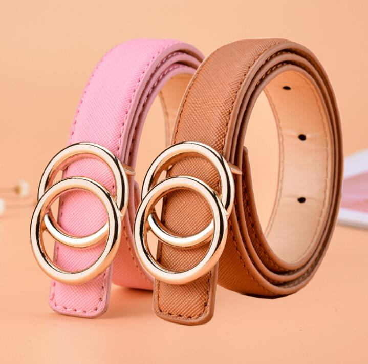 2019 HOT Boy Fashion pure color   belt   baby waist   belt   children deserve to act the role of the PU leather   belt   boys leisure   belt   s