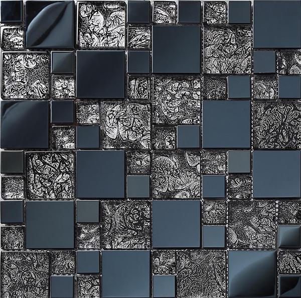 Deep blue Metal Crystal Glass 3D Mosaic Tile Wall tile kitchen/TV backsplash ceiling decor material tile,Free shipping,SA073-12 rose gold stainless steel metal mosaic glass tile kitchen backsplash bathroom background decorative art mosaic wall tile sa073 9