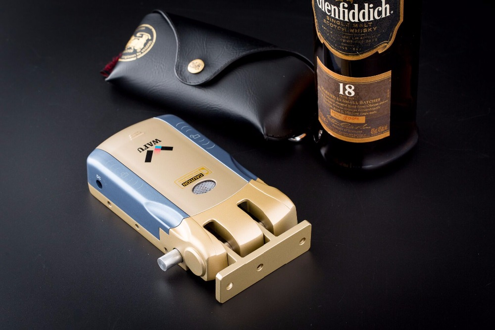 HTB1RI6Dk3nH8KJjSspcq6z3QFXaW Wafu 010 Wireless Electronic Door Lock Keyless Invisible Intelligent Lock With Touch Locked&Unlock Button 4 Remote Control Keys