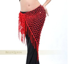 10pcs/lot Womens Ladies Sexy Cancellated Belly Dance Dancing Triangular Shawl Hip Scarf Dancewear Costumes 10 Colors