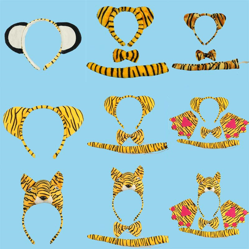 Quality In Children Adult Party Cosplay Animal Face Party Headband Pig Dog Duck Chicken Snake Ox Monkey Lion Headwear Ornament Hairband Excellent