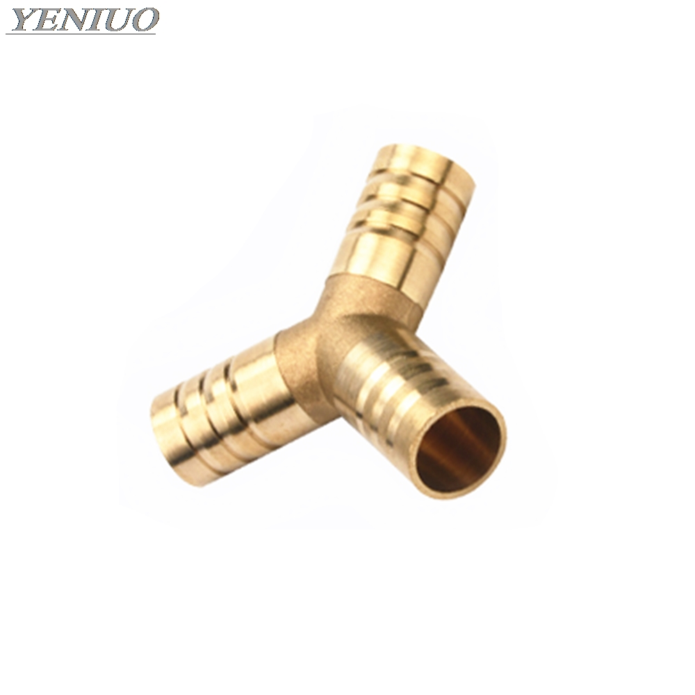 Brass Splicer Pipe Fitting Y Shape 3 Way Hose Barb 4mm-16mm Copper Barbed Connector Joint Coupler Adapter Pneumatic