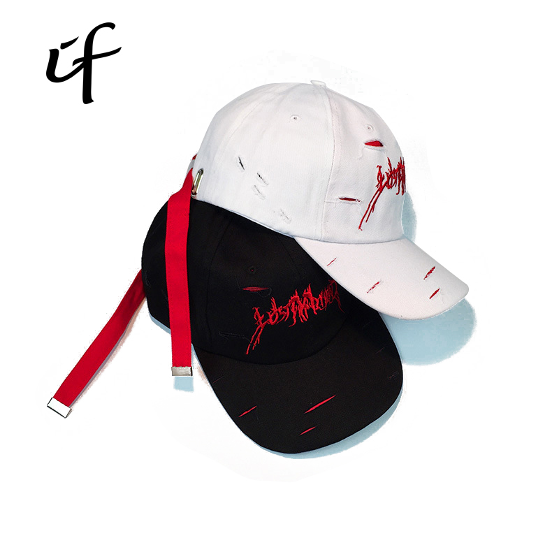 Embroidery Holes Broken Drake Snap back Baseball Caps K-Pop Bone Dad Hat For Women Men Polo Hip Hop Snapback Cap 2017 baseball cap snapback k pop caps embroidery dad fitted bone casquette drake hip hop hat for women men custom hats gorras