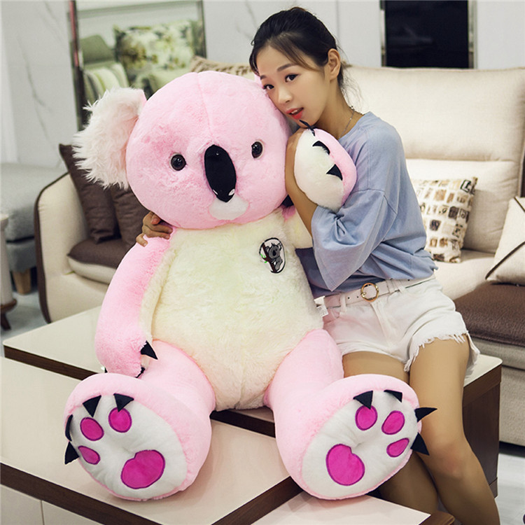 stuffed fillings toy large 120cm lovely pink koala plush toy soft doll throw pillow Christmas gift w0722 stuffed animal 120cm brown lying sleeping dog plush toy soft throw pillow w2302