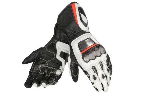 New Full Metal D1 Long Dain Genuine Leather Black White Orange Mororcycle Racing Motorcycle Gloves цена и фото