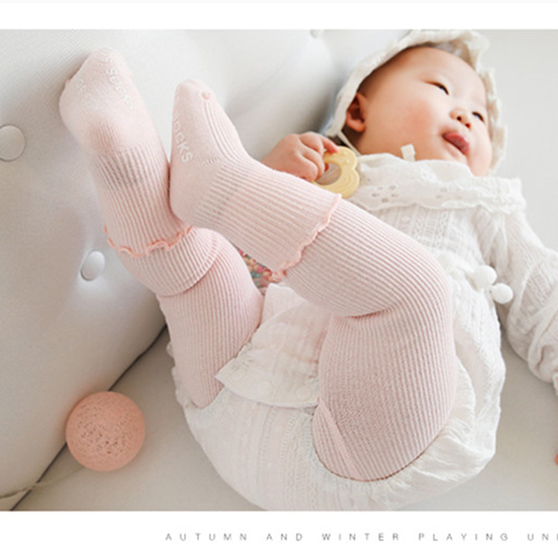 Tights & Stockings Girls Pantyhose Baby Tights Knitted Cotton Fall Winter Warm Baby Stockings Bebe Girl Kid Toddler Tights Pants Children Clothing