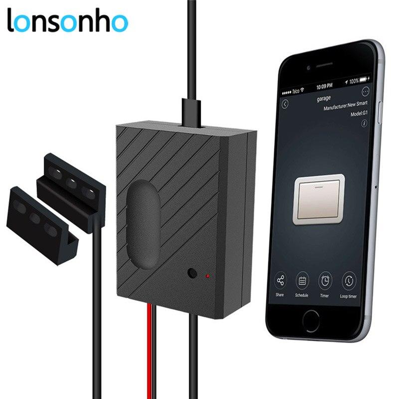 Lonsonho Wifi Smart Porte de Garage Télécommande DIY Replay Commutateur Fonctionne avec Alexa Google Maison IFTTT eWeLink Vie Intelligente