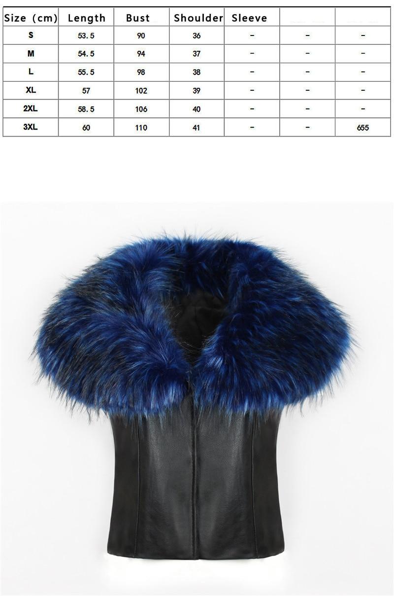 2018 spot fashion Europe and America party high-end fox fur faux fur vest elegant elegant fur (2)