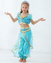 Girls Genie Character Clothing Sets Aladdin Princess Jasmine Cosplay Costume