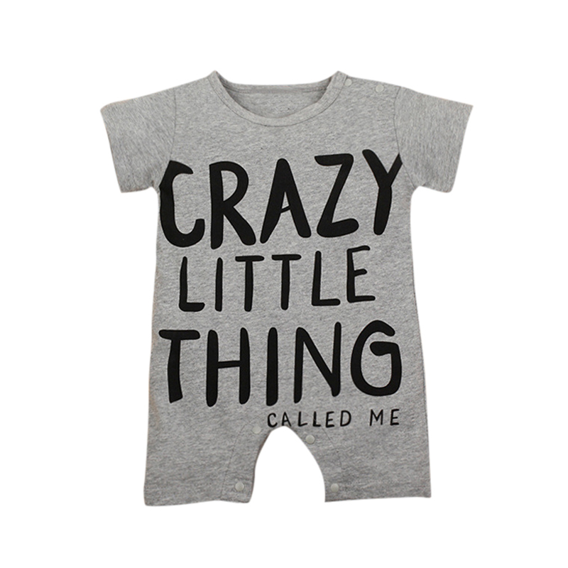 Baby Clothing New Newborn Baby Boy Gril Romper Clothes Short Sleeve Letter Style Children Clothes Infant Product
