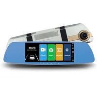 7 Full HD 1080P Touch Screen Car DVR Dual Lens Camera Rearview Mirror Video Recorder Dash Cam Auto Camera Recorder