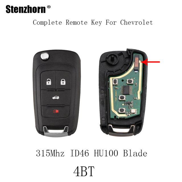 Stenzhorn 4buttons 315mhz Car Remote Key Fob For Chevrolet Equinox