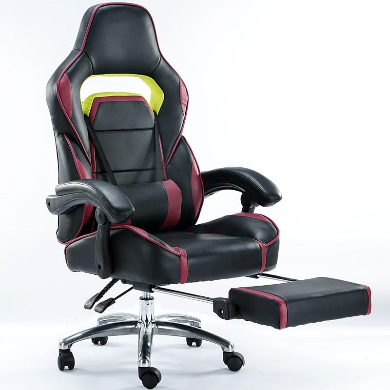 Высокое качество электронные спортивные игровые кресла эргономичный компьютер вращающееся кресло офисное кресло Отдых лежа подъема подст...
