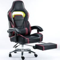 Hohe Qualität Elektronische Sport Gaming Ergonomischen Bürostuhl Computer Stuhl Bürodrehstuhl Freizeit Liegen Hebe Sanfte Fußstütze