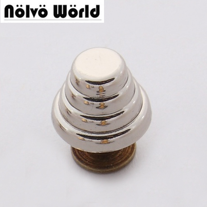 Nolvo World 13.5*10mm flat spikes metal studs rivets screwback spots metal hardware for bags button silver metal engraved rivet 100sets silver tone cone spike garment rivets studs spots fit clothes shoes bags accessories 10mm 3 8 8mm 3 8