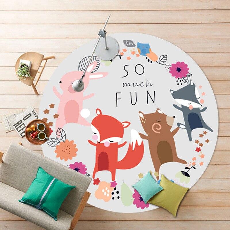 LIU cartoon children fox round carpet living room baby ...