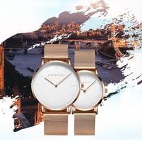 CHENXI Fashion Rose Gold Lover Watches Men High Quality Ultra Thin Quartz Watch Woman Elegant Dress