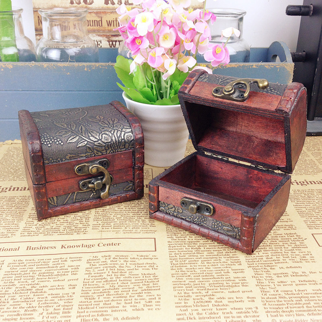 Vintage Jewelry Box Jewelry Organizer Storage Case Mini Container
