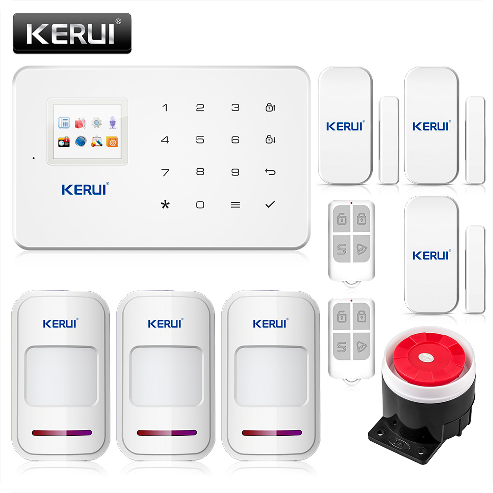 ФОТО Kerui G18 wireless Android iOS App remote control gsm sms alarm system wireless window gap magnetic sensor security smart system