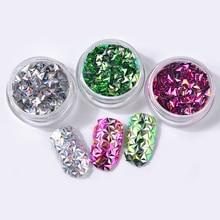 все цены на 6Pcs/set Chameleon AB Color Nail Sequins Glitters Triangle Flakes Paillette Manicure Nail Art Decorations онлайн