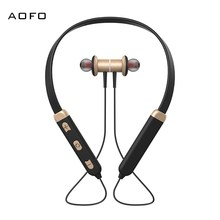 AOFO Bluetooth Headphones Wireless Earbuds 4.1 Magnetic Earphones Lightweight Mic in-Ear Sports