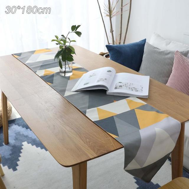 € 9.71 29% de DESCUENTO|Camino de mesa nórdico moderno geométrico mesa de  comedor bandera hogar y vida decoración mesa bandera fiesta decoración ...
