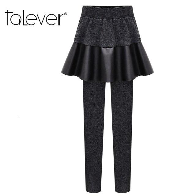 2016 New Fashion Women's Draped Skirt Leggings Skirt Warm Leggings Cotton High Elasticity Good Quality Thick Velvet Pants