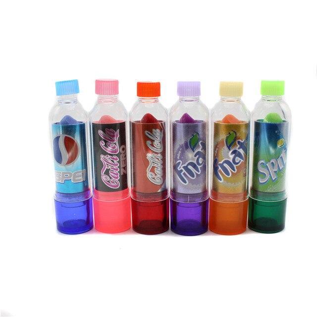 24pcs/lot beauty Change Color Cola Lipstick sweet cute Moisturizer Faint scent Lip Balm Lipstick Brand Makeup Lip Smacker 2