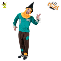 Deluxe Scarecrow Halloween Costume Adult Mens Colorful Buffon Dress Up For Carnival Masquerade Party Decorate