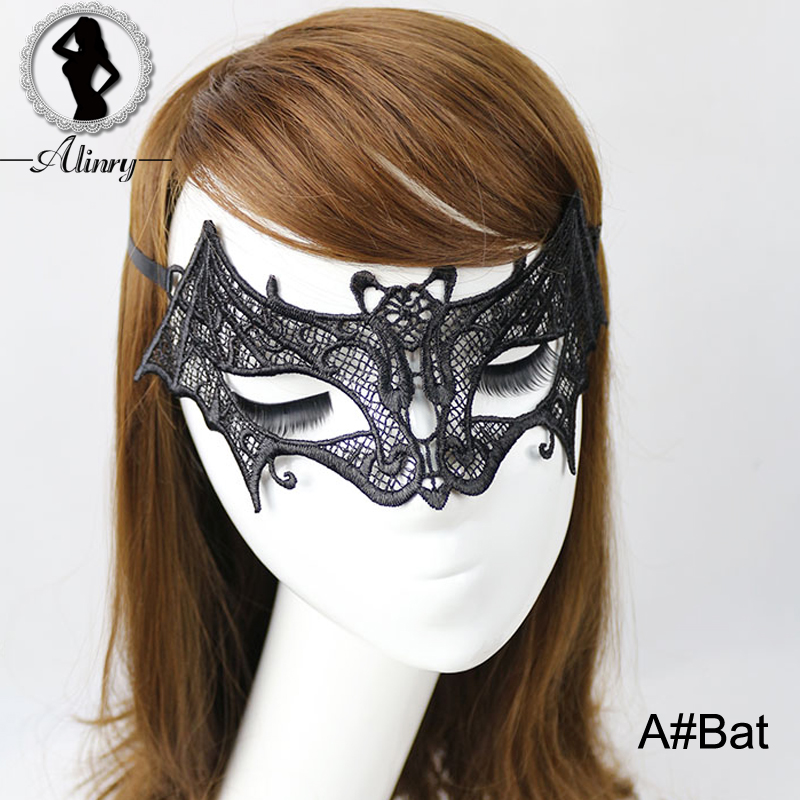 Buy ALINRY Sexy Lace Mask Black Hollow Lingerie Hot New Arrival Masquerade Exotic Accessories Holiday Erotic Animal Prom Goggles