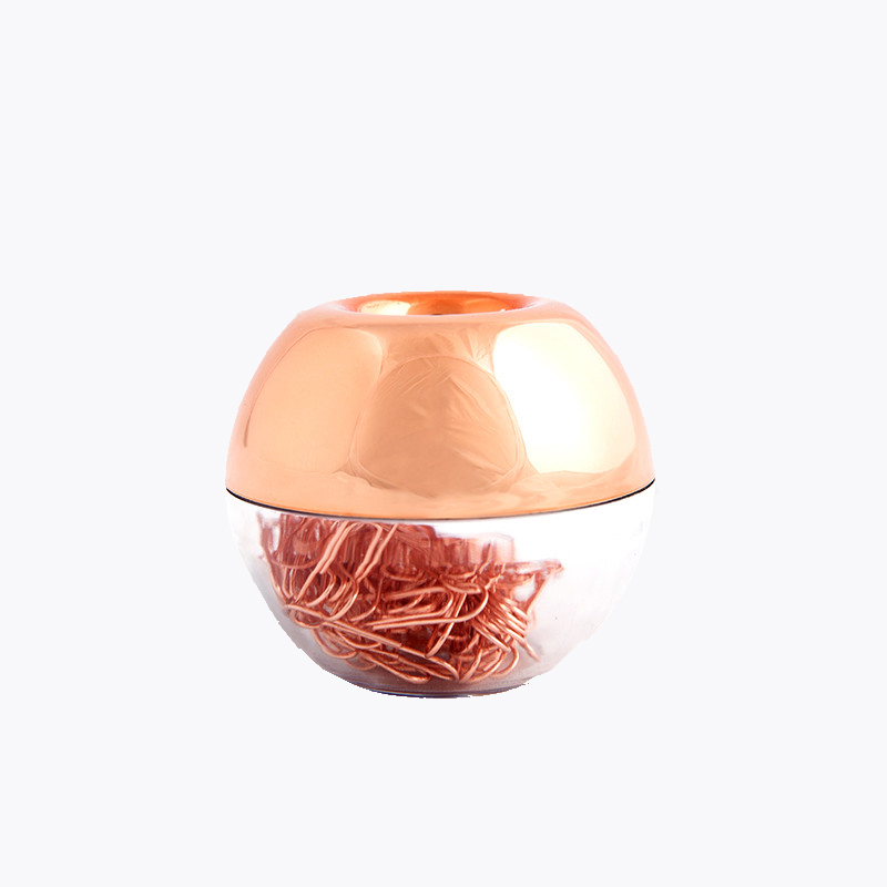 100pcs 28mm Rose Gold Paper Clips Kawaii Gold Apple Clip Holder Clip Dispenser Bookmark Clips the Office & School Supplies Kids цена и фото