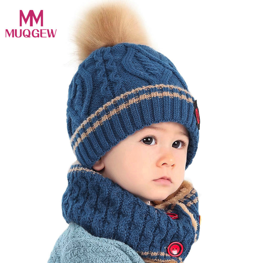 Sweet-Tempered New Winter Rabbit Ear Baby Hat Scarf Set Children Warm Hat Wool Hooded Scarf Cap Set Lovely Kids Hat Scarf Set Evident Effect Mother & Kids