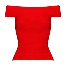 Дешево вискоза эластичный вязаный эластичный Женский Топ высокого качества летний Красный hl с открытыми плечами бандажный Топ