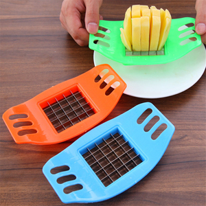 17cm*9.7cm Stainless Steel Vegetable Potato Slicer Cutter Cutting Slicers Cut Fries Device Random Color 1PCS