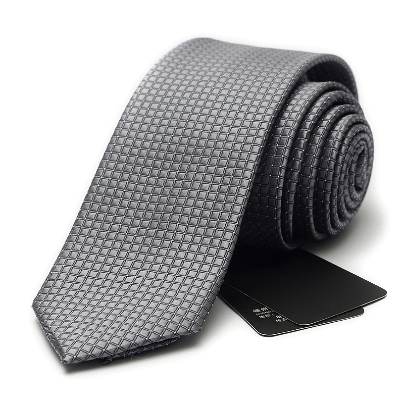 2019 New Fashion 6cm Mens Ties Neckties Black Silver Red Plaid Ties For Men Formal Wear Business Suit Jacquard Weave Ties
