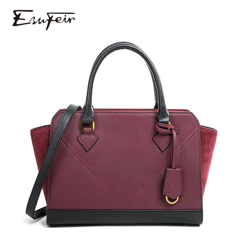 dacb957f4eb1 New 2019 Genuine Leather Women Handbag Fashion Casual Shoulder Bag Lady  Luxury Handbags Designer Famous Brands Trapeze Tote Bags