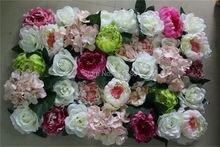 Freies Verschiffen-10pcs/lot großhandel gute qualität personized künstliche pfingstrose rose blume wand für bühnenhintergrund dekoration