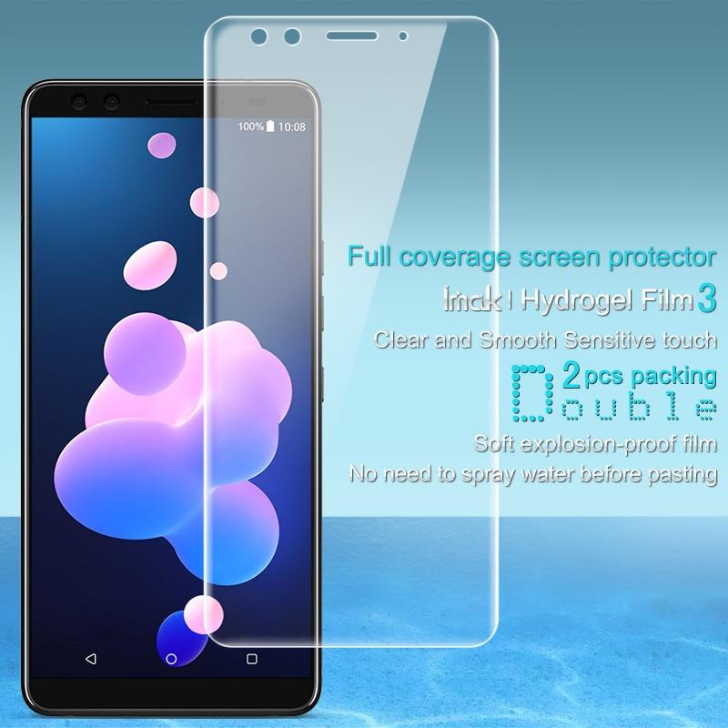 Imak sFor Htc U12 Plus Screen Protector Volle Abdeckung Hydrogel III 2 Pcs Schutz film für HTC U12 + U12 plus nicht glas