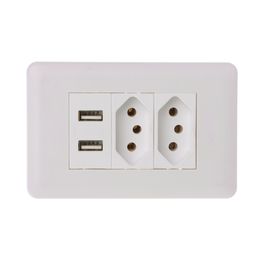 15A Wall Double Standard Power Socket Adapter Dual Ports USB Charger Panel 5V 2.1A G07 Great Value April 415A Wall Double Standard Power Socket Adapter Dual Ports USB Charger Panel 5V 2.1A G07 Great Value April 4