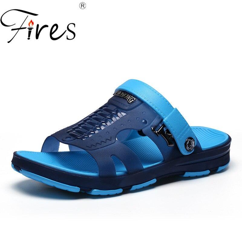 Fires Men Summer Loafer Shoes Summer Breathable Slip-on Sandals Zapatos de hombre Mans Comfortable Lightweight Flat Shoes