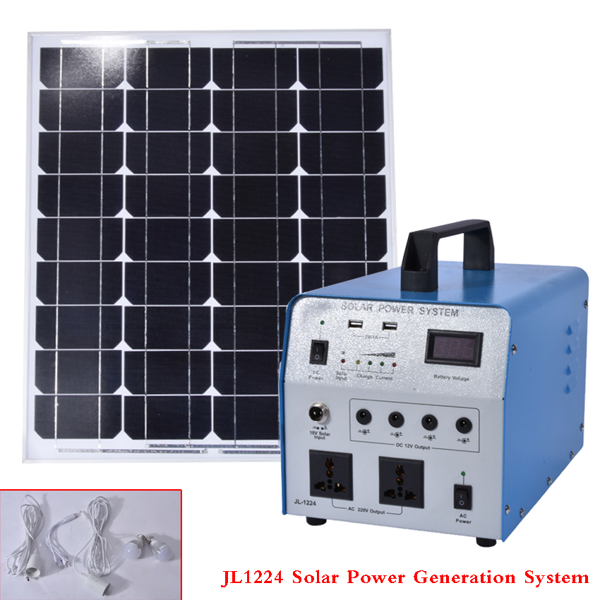 JL1224 Solar Power Generation System Alternative Energy Generators 350W Lighting System Generator With Solar Panels 630*540mm alternative power supply system
