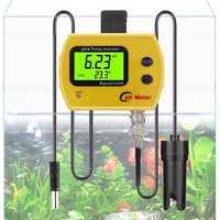 Monitor de ph em linha lcd digital ph & temp eletrodo analisador acidimeter aquário hidroponia spa monitor qualidade água potável