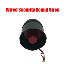 Free shipping Outdoor Wired Security Sound Siren Horn DC12V 15W 115dB Loud High Volume Home Intrusion Fire Alarm System